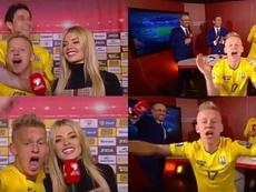 El 'reincidente' Zinchenko firmó la celebración más loca de Ucrania. Capturas/UEFATV
