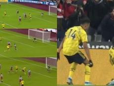 Pépé et Aubameyang renversent West Ham en neuf minutes. Captures/DAZN