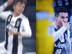 Cristiano y Dybala, sociedad en la Juventus. Capturas/beINSports