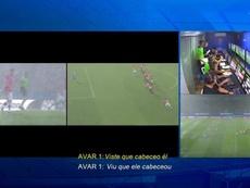 De 'impedimento' a 'gol confirmado' no VAR em Assunção. Captura/CONMEBOL