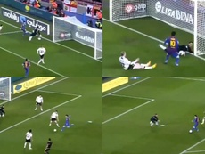 El primer póker de Messi en Liga cumple años. Capturas/SkySports
