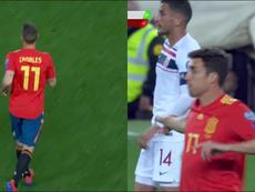 Canales y Mata debutaron ante Noruega. Captura/TVE