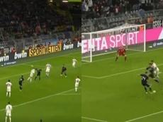 Premier but, premier but et égalisation pour Ocampos contre l'Allemagne.  Captura/Cuatro