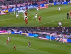 El tanto de Donis igualó el gol de Thiago. Capturas/beINSports