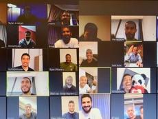 Fatih Terim spoke to the Galatasaray players over the internet. Captura/FatihTerim