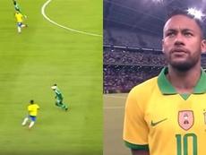 La última de Neymar: ¡sombrerito hacia atrás sin despeinarse! Capturas/DAZN