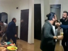 De destrozar su casa a celebrar la victoria del Galatasaray. Capturas/atavratfelipe