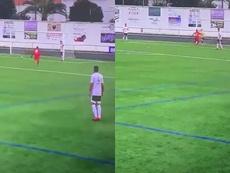 No se supo las reglas, regaló un gol y protestó: así fue el 0-2 del Cacereño. Captura/Footters
