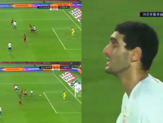 Le but de Fellaini en images.  Captura/DD