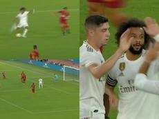 Connexion Marcelo et Modric pour le 0-1. Capture/RMTV