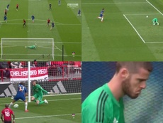 De Gea de nouveau coupable sur le but de Marcos Alonso. Captures/SkySports