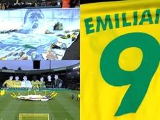 Así fue el homenaje del Nantes a Sala. Captura/FCNantes