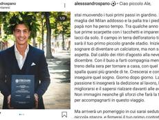 El joven se retiró. Capturas/Instagram/alessandrospano