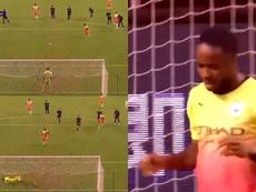 Sterling hizo un Ramos desde el punto de penalti