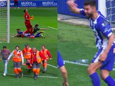Pacheco pisó a Duarte y a Escalante. Captura/beINSports