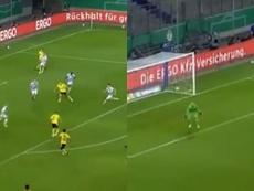 Taconazo de fantasía de Hazard y gol del juvenil más caro de la historia. Capturas/NovaSport1