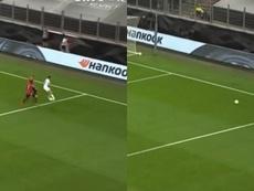 Jansen revivió el taconazo de Redondo contra el United. Captura/MovistarLigadeCampeones