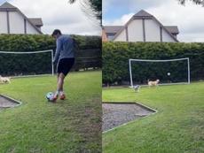 La nueva forma de lanzar penaltis de Raúl Jiménez. Captura/Raul_Jimenez9
