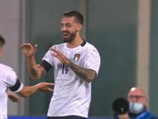 Un debutante de 33 años que se estrenó con gol. AFP