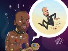 Así fue la caricatura que compartió el agente de Touré. Twitter/dmitriseluk