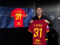 He was presented as a Roma player. Twitter/ASRomaEN