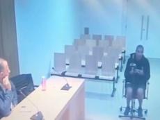 Salen a la luz imágenes de la declaración de Aranda ante el juez. Captura/ElMundo