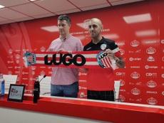 Carlos Castro espera que su confianza se traduzca en goles. Twitter/CDeportivoLugo