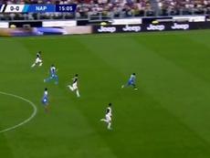 Cristiano Ronaldo flashé à 33 km/h contre Naples. Captura/BeINSports