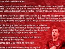 Rodri Ríos se despidió de la afición por carta. Instagram/rodririos6