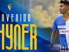 Rhyner, nuevo jugador del Cádiz. Cádiz_CF