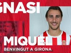 El Girona ficha a Ignasi Miquel. GironaFC