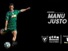 Manu Justo se marcha cedido al UCAM. UCAMMurciaCF