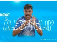 Álex Felix renueva con el Lleida Esportiu. Twitter/Lleida_Esportiu