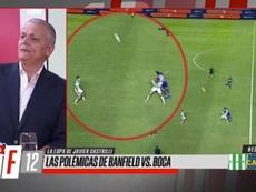 Castrilli explicó la invalidez del gol de Boca. Captura/ESPN