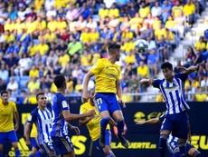 Pablo Trigueros está feliz de su papel en la Ponferradina. Twitter/Cadiz_CF