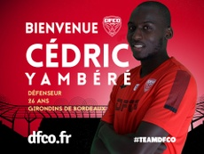 Cédric Yambéré s'engage officiellement à Dijon. DijonFCO