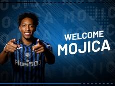 Mojica, nuevo jugador del Atalanta. Twitter/Atalanta_BC