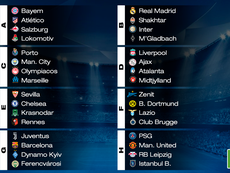 UCL group stage draw results. BeSoccer