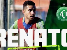 Renato firma por dos temporadas. Twitter/Chapecoense