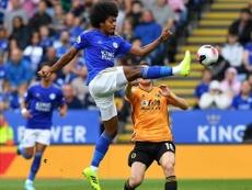 El VAR dejó en tablas el Leicester-Wolves. AFP