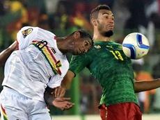 Choupo-Moting, autor del solitario gol de Camerún ante Malawi. AFP