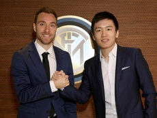 Eriksen já é da Inter. Twitter/Inter
