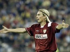 Poulsen recordó el gol de Puerta. EFE/Archivo