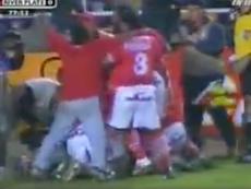 Cienciano ganó a River en la Copa Sudamericana de 2003. Captura/FoxSports