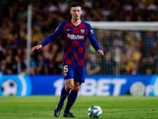 Clément Lenglet s'exprime avec humilité. . Twitter/FCBarcelona