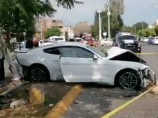 Joao Maleck se vio supuestamente envuelto en un aparatoso accidente. Twitter/ExpresoNetwork