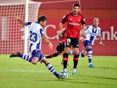 El Levante puede con el Mallorca, el calor y la humedad. Twitter/UDLevante