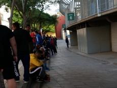 Locura por la Copa en Tenerife. Twitter/Vane_Cranberry