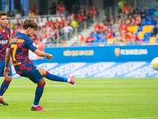 El Barça B empató a dos contra el Nàstic. BarçaB