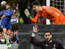 Morata, Courtois and Donnaurmma's futures are all intertwined. EFE/AFP
